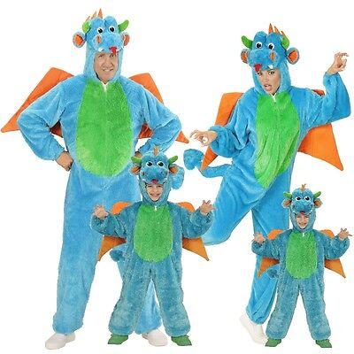 Drache Plüsch Kostüm für Kinder und Erwachsene Unisex - Karneval Fasching Tier ()