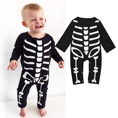 USStock Toddler Baby Boy Girl Halloween Rompers Playsuit Clothes Outfits Costume