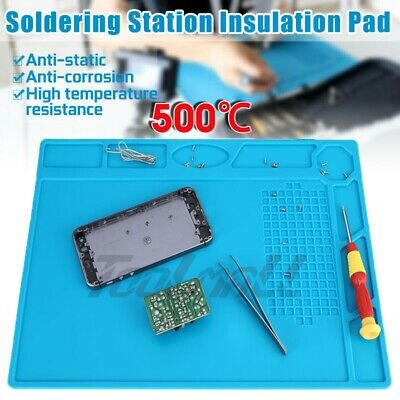Phone Repair Magnetic Heat Insulation Silicone Pad Desk Work Mat Soldering Iron