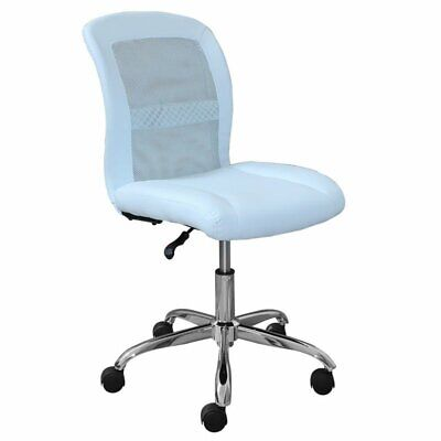 - Pemberly Row Faux Leather Office Chair in Blue Sky