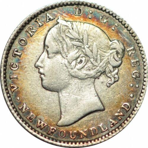1865 CANADA NEWFOUNDLAND 10 CENTS KM3-BOLD XF-GORGEOUS TONE!-d229sudc2