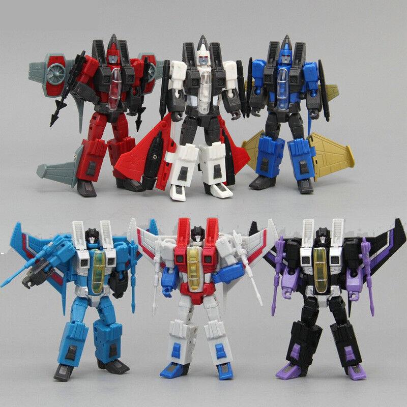 "Mini G1 F15 Team Decepticons Starscream Thundercracker Skywarp 4/"" Action Figure"