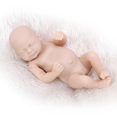 Silicone Mold Handmade Reborn Doll Girl unpainted blank doll kit 11''