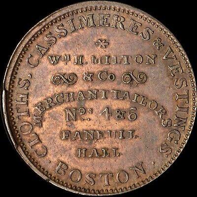 W.H. MILTON CORP # 4 & 6 FANEUIL HALL TOKEN BOSTON,MA  RARE!
