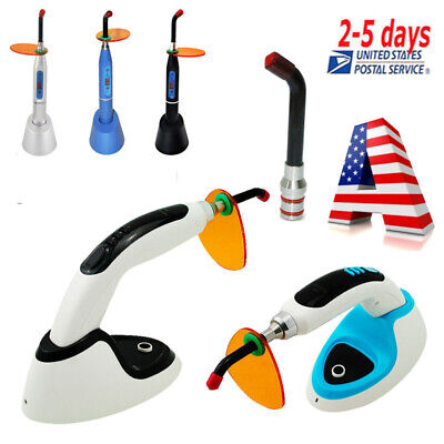 Us Stock Led Dental Curing Light Lamp Teethwhitening10w 2000mw Wireless Cordless