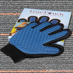 Grooming cat and dog glove