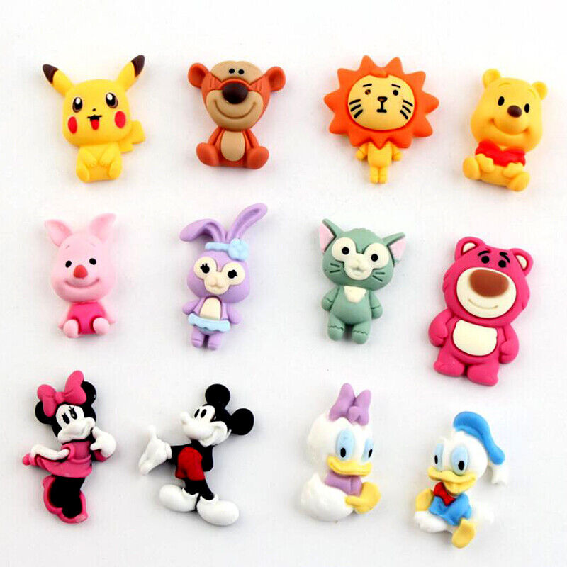 20Pcs Assorted Resin Animals Flatback Buttons for Crafts Embellishments Random