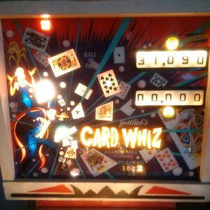 1976 GOTTLIEB'S Card Whiz pinball machine