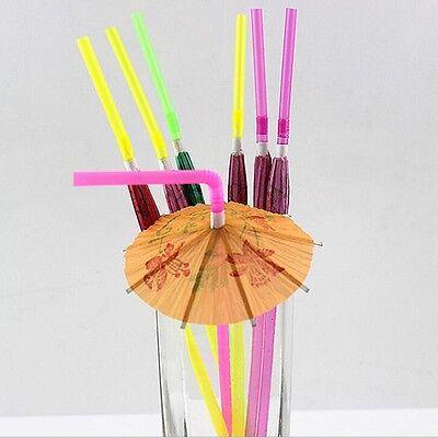 20pcs Cute Umbrella Cocktail Drinking Straws Home Wedding Party Useful - Cute Straws