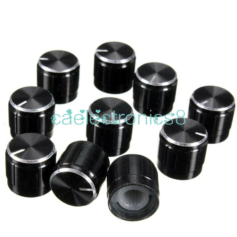 5PCS Useful Volume Control Rotary Knobs For 6mm Dia Knurled Shaft Potentiometer