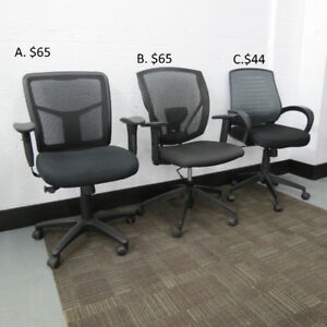 Three styles of Black Task Chairs, Several Hundreds Available