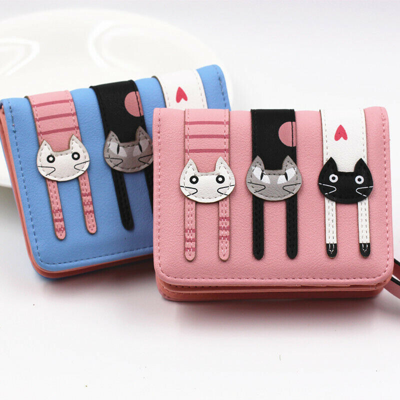 Cute Women Small Leather Wallet Card Purse Clutch Zipper Mini Handbag US FAST Clothing, Shoes & Accessories