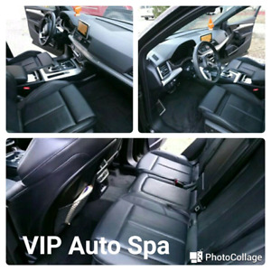 VIP treatment for your car with steam shampoo
