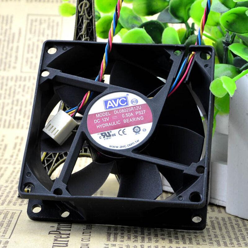 AVC-DL08025R12U-CPU-Cooling-Fan-PWM-12V-0-50A-4Pin-Cooler-Chassis-80x80x25mm thumbnail 7