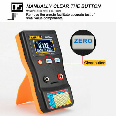 Mesr100 V2 Auto Ranging In Circuit Esr Capacitor Meter Tester 0.001 To 100rclip