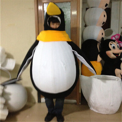 Halloween Penguin Mascot Costume Suits Dress Cosply Party Game Dress Adult UK