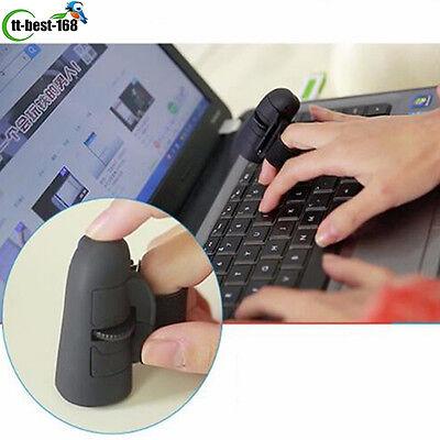 Wireless Mini Usb Trackball (Mini Wireless USB Finger Mouse Optical Handheld Trackball Ring Mice fr Laptop)