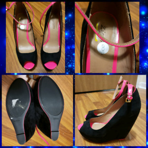 Size 8 and 7.5 Heels and Wedges