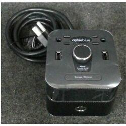 Brandstand BPEBL Cubieblue Charging Alarm Clock With Bluetooth Speaker Black