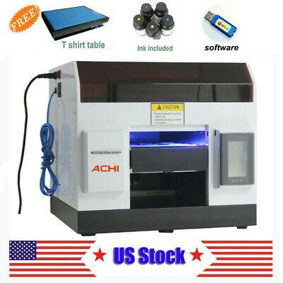 Achi Uv Printer Flatbed Printer Epson L800 Metal Phone Case Glass Sign Us Stock