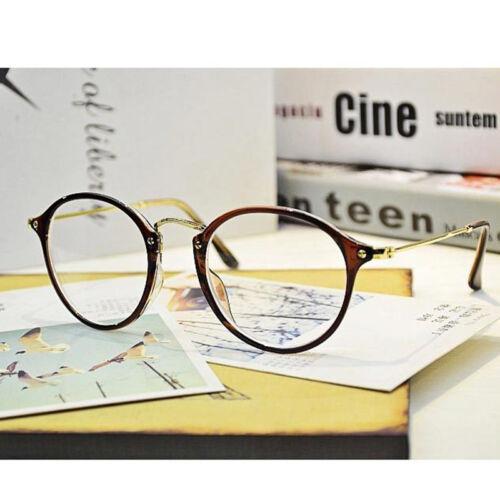 Retro Vintage Mann Frauen Runde Brillengestell Vollrandbrille