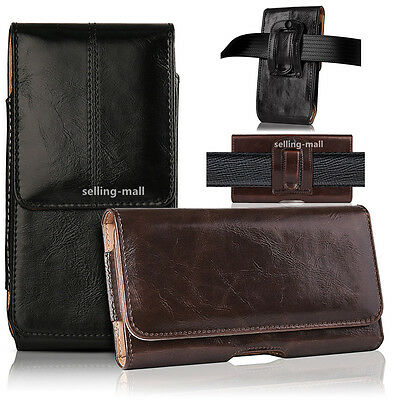 Leather Cell Phone Cover (Leather Rugged Cell Phone Case Pouch Holster Clip Belt Loop Carrying Cover)