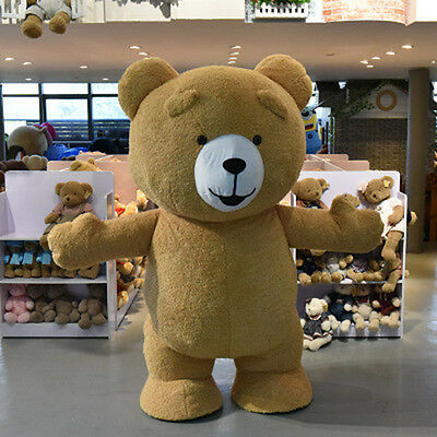 Adult Size Halloween Teddy bearfancy dress Inflatable Plush Bear Mascot Costume  (Inflatable Bear)