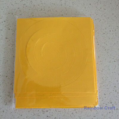 Spiral Quilling Paper - perfect for making flowers 11 Colors (U select) 5 types - Dark Yellow