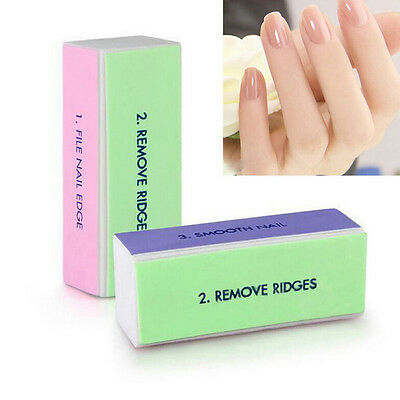 Pro-nail Care (5Pcs Pro Nail Art Care 4 Way Shiner Buffer Buffing Block Sanding File YH)