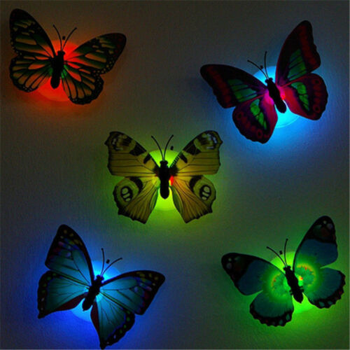2pcs Butterfly LED Lights Wall Stickers 3D night light House Decoration