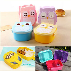 children cute bento lunch box food container portable japanese bento box ebay. Black Bedroom Furniture Sets. Home Design Ideas