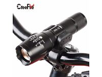 FREE TORCH HOLDING CLAMP + XM-L T6 LED 2000LM E17 Aluminum Torches Zoomable Flashlight Torch