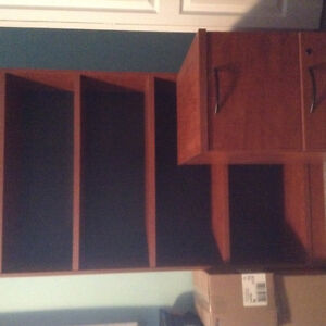 Office desk  bookcase and. Filing cabinet