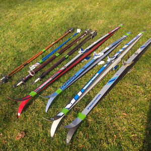 4 pairs of cross country skis