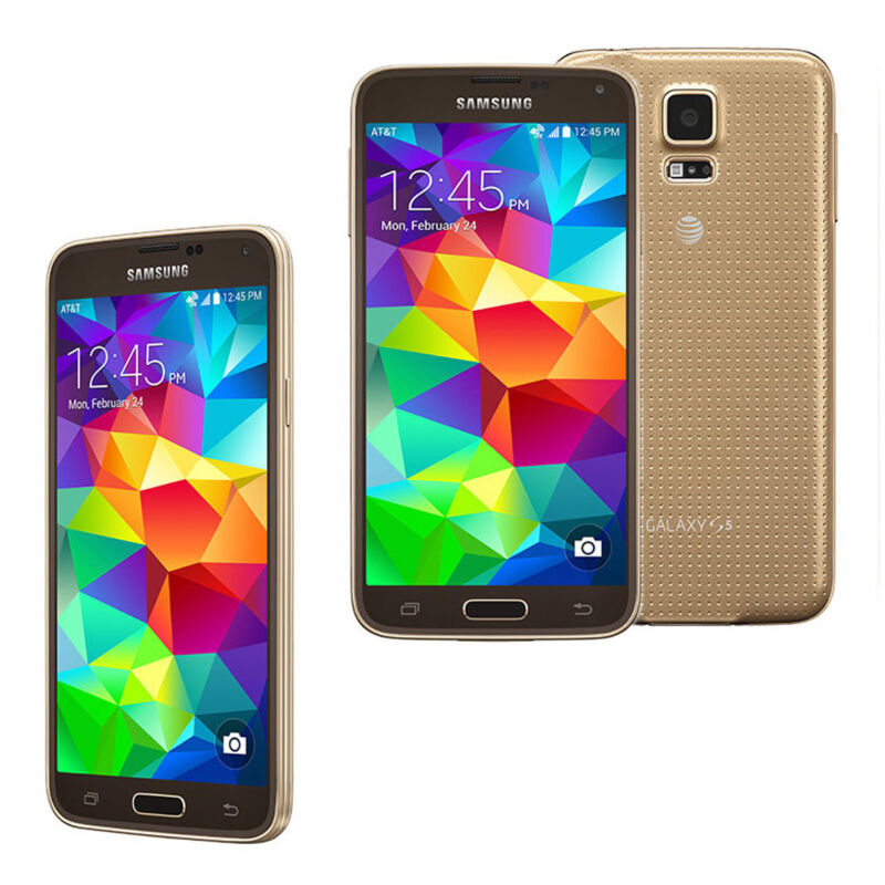 Samsung Galaxy S 5 4G Cell Phone Copper Gold (AT&T) SM-G900A GLD