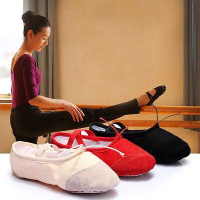 Child Adult Canvas Ballet Dance Shoes Slippers Pointe Dance Gymnastics Lot Sizes