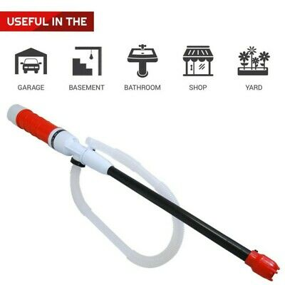 Electric Handheld Fuel Gas Oil Water Liquid Transfer Pump Battery Operated Us