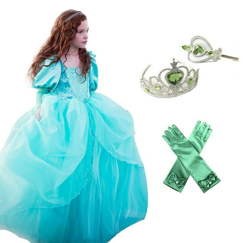 Kids Girl Little Mermaid Ariel Princess Cospaly  Party Dress