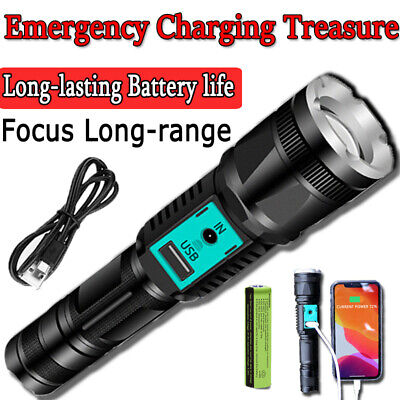 Top 1000000 Lumen L2 LED USB Flashlight Power Bank Zoom Lamp Light Waterproof US
