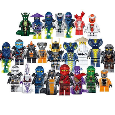 Set of 24 Pcs Ninjago Mini Figures Kai Jay Sensei Wu Master Building Blocks Toys