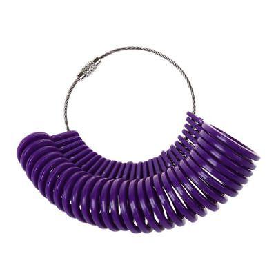 US Plastic Finger Measure Meter Ring Mass 3-13 Set Purple Jewelry tools M3K4