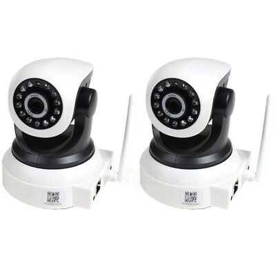 2x Wireless Network IP Security Camera Wifi Audio IR Day Night Surveillance AF3