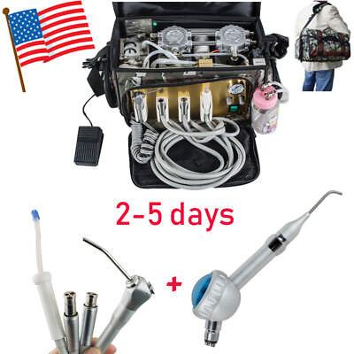 Portable Dental Turbine Unit Bag Air Compressor Suctionsyringe Air Polisher