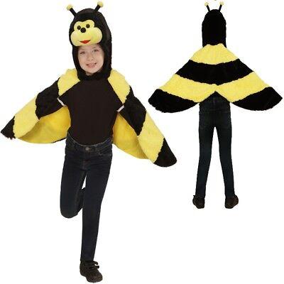 Biene Bienchen Cape Überwurf Kleinkinder Plüsch Kostüm - Kinder 2-4 J.Tierkostüm