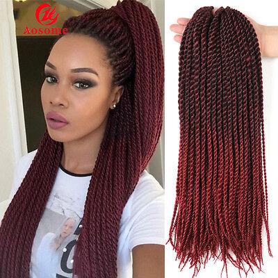 22'' Ombre Kanekalon Small Senegalese Twist Hair Crochet Braid Hair Extensions