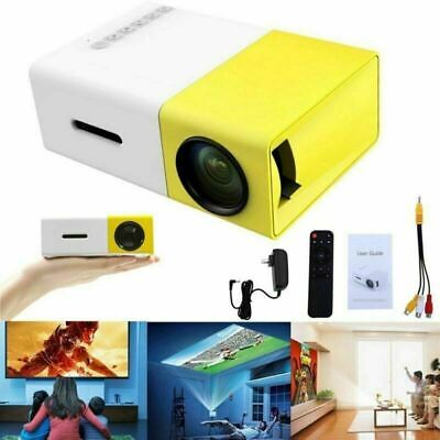 YG300 1080P Home Theater Cinema USB HDMI AV SD Mini Portable HD LED Projector US
