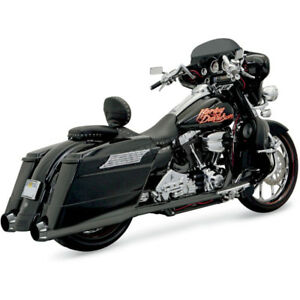 New Harley Davidson Bassani Black Ceramic True Dual Exahust