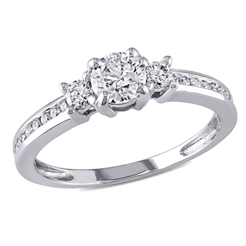 Amour 4/5 Ct Tw Diamond 3-stone Solitaire Ring In 14k White Gold