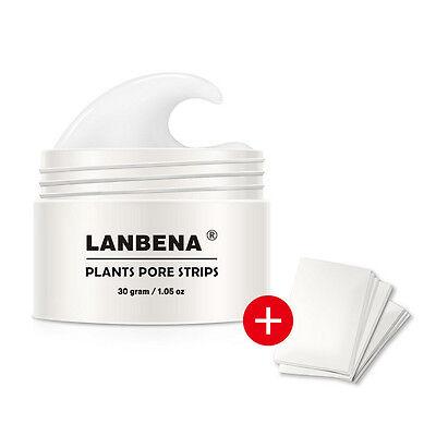 LANBENA Plants Pore Strips Blackhead Remover Nose Cleansing Peel Off Mud Mask US