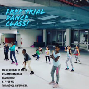 free trial dance classes for kids ages 2-18